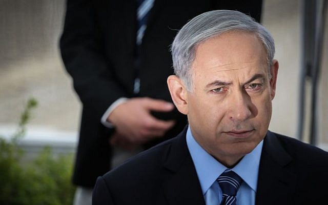 Prime Minister Benjamin Netanyahu in Jerusalem, February 23, 2015 (photo credit: Hadas Parush/FLASH90)