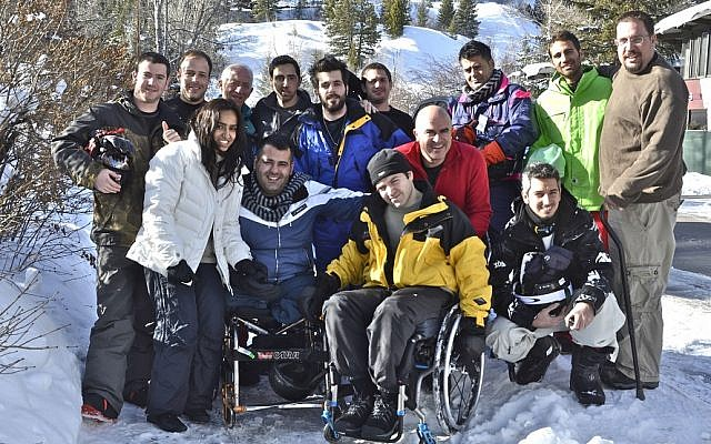 Golshim L'Chaim-Ski to Live brings about a dozen wounded Israeli veterans and terror victims to Aspen to learn how to ski each year. (photo credit: JTA/Nina Zale)