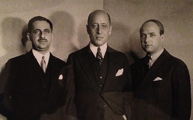 From left, Zacharias Max Hackenbroch, Julius Falk Goldschmidt and Saemy Rosenberg, three of the Jewish collectors who purchased the Welfenschatz treasure in 1929. (photo credit: JTA)