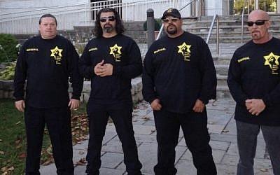 JDL marshals at the Sephardic Kehila Centre in Toronto, September 24, 2014 (photo credit: JDL Canada website)