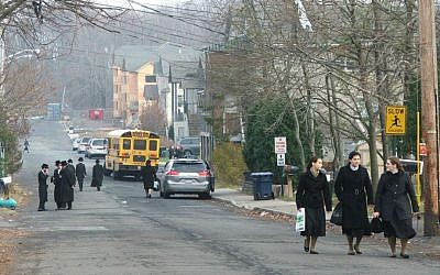 The town of New Square, an all-Hasidic village in Rockland County (Uriel Heilman/JTA)