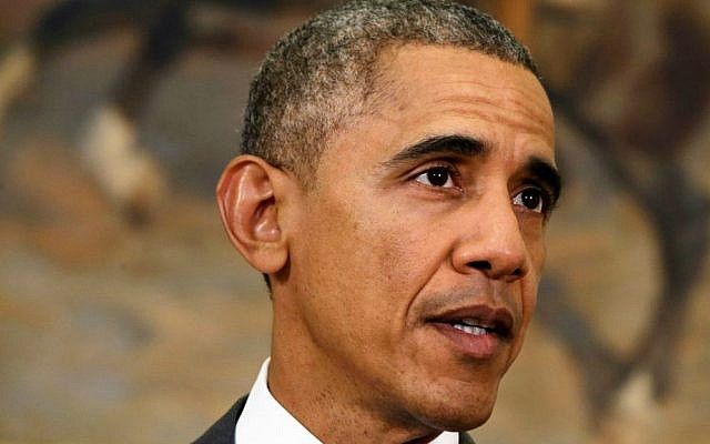 US President Barack Obama speaks about the Islamic State group, Wednesday, Feb. 11, 2015, in the Roosevelt Room of the White House in Washington. (AP Photo/Jacquelyn Martin)