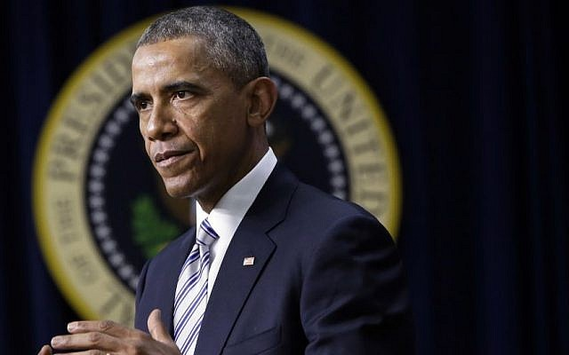 US President Barack Obama speaks at the White House Summit on Countering Violent Extremism, Wednesday, Feb. 18, 2015. (Photo credit: AP/Jacquelyn Martin)
