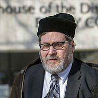 Rabbi Barry Freundel leaves the DC Superior Court House in Washington, February 19, 2015. (AP file Photo/Cliff Owen)