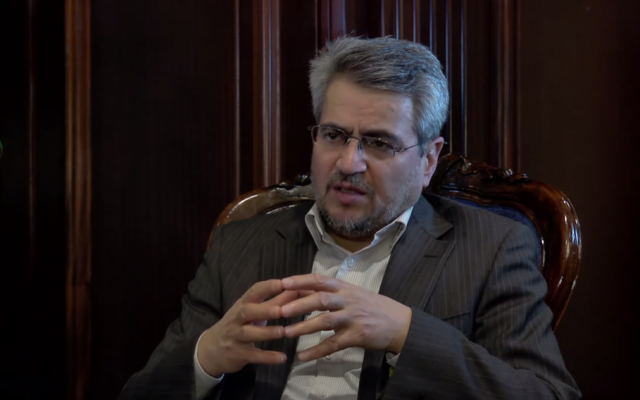 Gholam Ali Khoshroo, Iran's new ambassador to the UN (screen capture: YouTube)