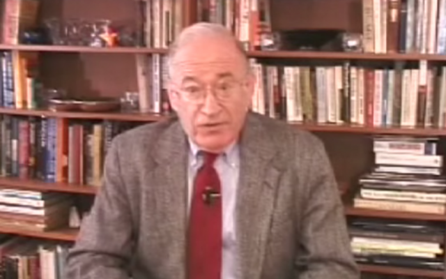 Physicist Ernest Sternglass (screen capture: YouTube)