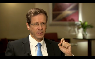Zionist Union leader Isaac Herzog speaks to CNN, February 20, 2015 (CNN Screenshot)