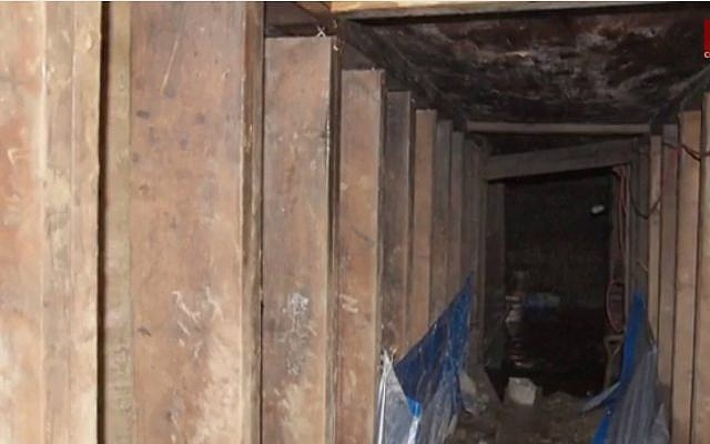 The mysterious tunnel found in Toronto, Canada on January 14, 2015. (YouTube screenshot)