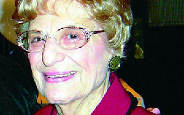 Violet Spevack (photo credit: Courtesy Cleveland Jewish News)