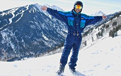 Israeli army veteran Yinon Cohen, 31, surprised his ski instructors at Challenge Aspen with his determination to ski unaided except for his prosthetic legs. (photo credit: JTA/Nina Zale)