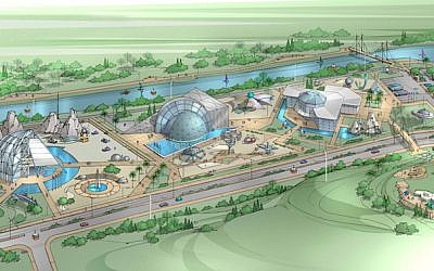 Artist's rendition of the Ashdod Space Park (Photo credit: Courtesy)