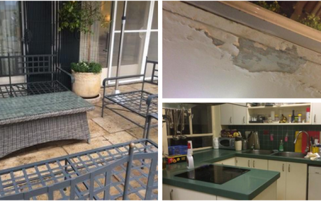Photographs of Prime Minister Benjamin Netanyahu's residence from a meeting of Likud leaders on Feb. 11, 2015 were leaked to Army Radio. Some believe the photos were deliberately sent to the reporter to combat the recent attacks on the prime minister's luxury. (Screen capture: Ido Benjabi/Army Radio Twitter)
