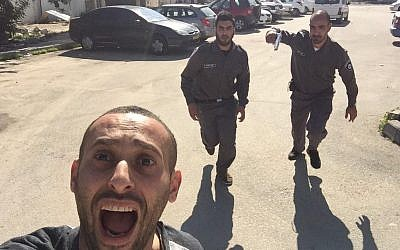 A staged selfie taken by rapper Tamer Nafar (photo credit: Tamer Naffar via Twitter)