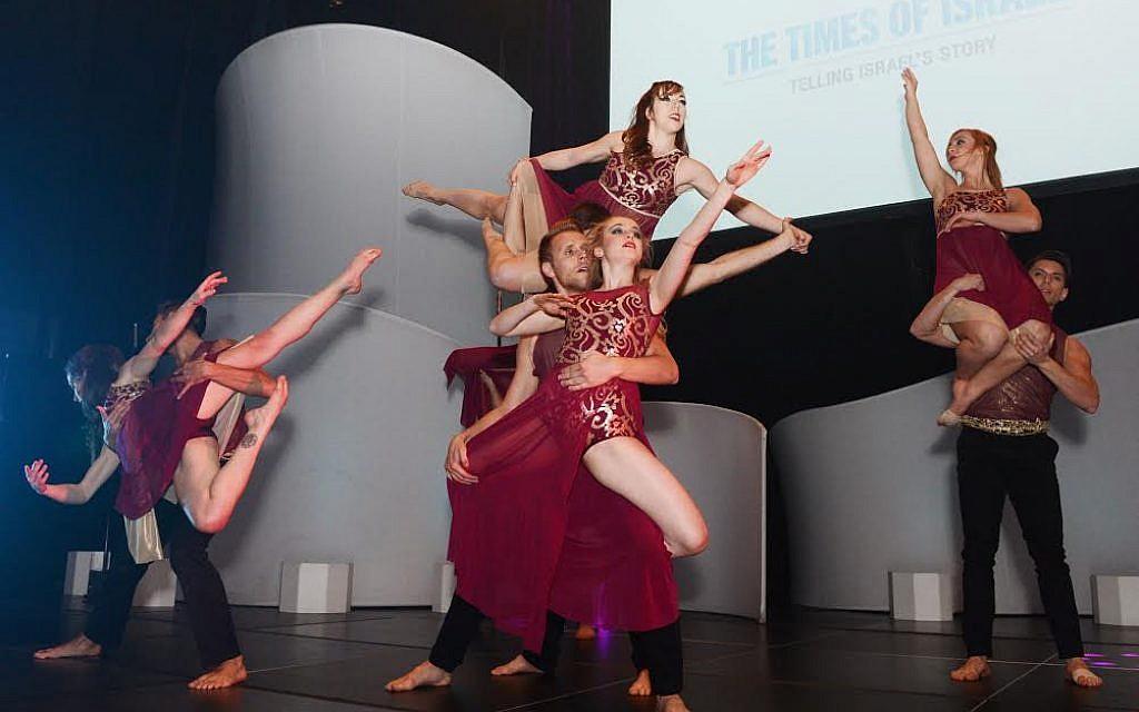 The Keshet Chaim Dance Ensemble performs at The Times of Israel's New York Gala, February 15, 2015 (photo credit: Peter Halmagyi)