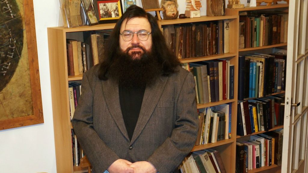 Dovid Katz has become a target of scorn for speaking out against ultranationalist groups in Lithuania. (photo credit: Cnaan Liphshiz/JTA)