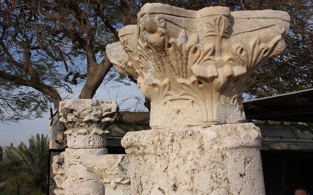 The archeological garden at Gan Hashlosha (photo credit: Shmuel Bar-Am)