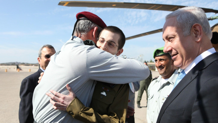 "Gantz, widely considered an officer and a gentleman, greeted Israel's returned captive soldier, Gilad Shalit, on October 18, 2011, with a salute and a hug, telling him to ""be strong and everything will ok."" (photo credit: IDF Spokesperson's Unit/ Flash 90)"