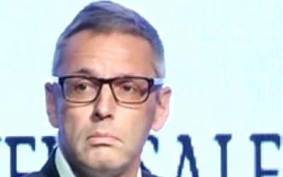Denmark's ambassador to Israel, Jesper Vahr (YouTube: screen capture)