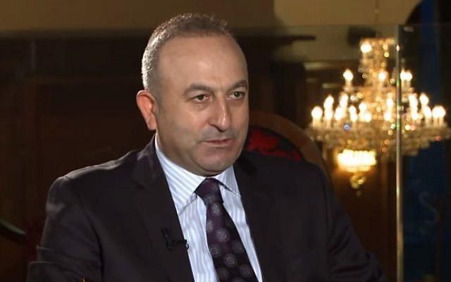 File: Turkish Foreign Minister Mevlüt Çavuşoğlu (screen capture: YouTube)