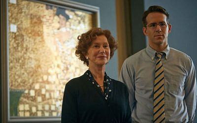 Helen Mirren as Maria Altmann and Ryan Reynolds as her attorney Randol Schoenberg in the film 'Woman in Gold.' (Robert Viglasky/The Weinstein Company)