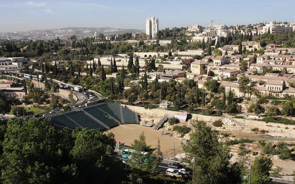 Looking down to Yemin Moshe and Sultan's Pool from the Old City of Jerusalem ramparts (photo credit: Shmuel Bar-Am)