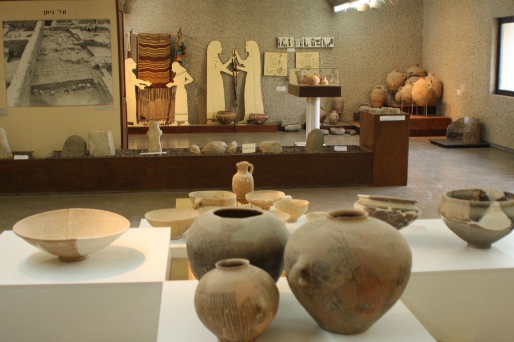 Inside the archeological museum at Gan Hashlosha (photo credit: Shmuel Bar-Am)