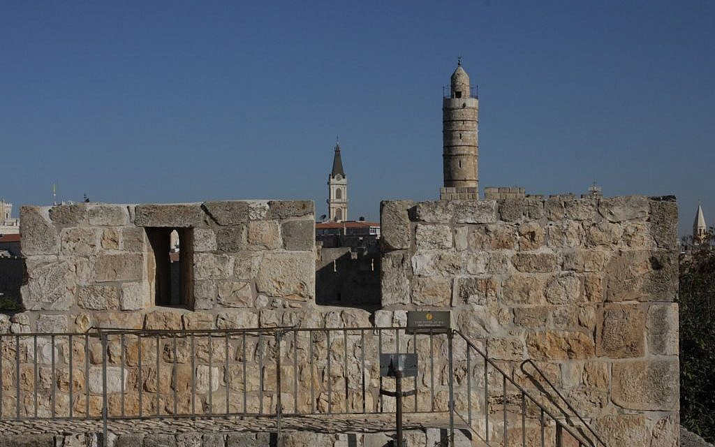 High on the ramparts surrounding the Old City of Jerusalem (photo credit: Shmuel Bar-Am)
