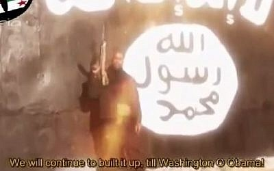 German former rapper Denis Cuspert who joined the Islamic State group. (screen capture: YouTube/BeingMomeen)