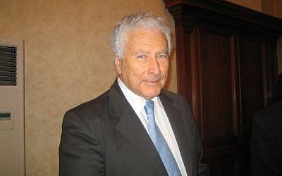 President of the Union of Italian Jewish Communities Renzo Gattegna (courtesy Pagine Ebraiche)