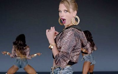 "A screen capture from Taylor Swift's music video ""Shake it off."" (screen capture: YouTube/TaylorSwiftVEVO)"