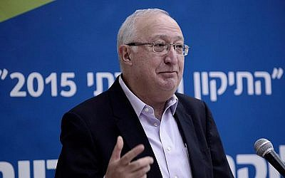 Professor Manuel Trajtenberg speaks at a conference about the social situation in Israel, in Tel-Aviv University, January 18, 2015. (photo credit: Tomer Neuberg/FLASH 90)