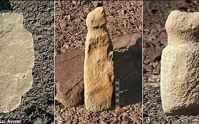"""Over 100 neolithic """"cult sites"""" containing sexual carvings, graves and human-like figures dating back roughly 8,000 years have been found in the southern Israeli Eilat Mountains. (photo credit: Uzi Avner/Daily Mail screen capture)"""