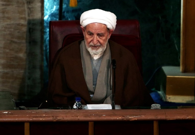 Iran's former judiciary chief Mohammad Yazdi attends a session of the Assembly of Experts in the capital Tehran on March 10, 2015, before being appointed as the new head of the Assembly. (Photo credit: AFP/BEHROUZ MEHRI)