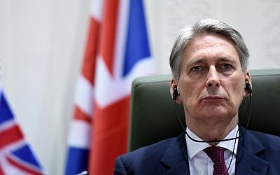 British Foreign Secretary Philip Hammond on March 23, 2015 (Photo credit: Fayez Nureldine/AFP)