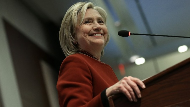 Former US Secretary of State Hillary Clinton on March 23, 2015 in Washington, DC (Photo credit: Win McNamee/Getty Images/AFP)