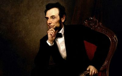 Detail from 'Lincoln,' painting by George Peter Alexander Healy in 1869 (public domain via wikipedia)