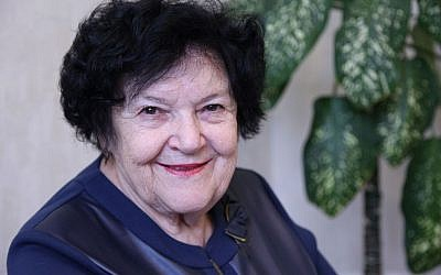 Director of the Kramatorsk JDC Hesed center Galina Davidavna, 78. (courtesy JDC)
