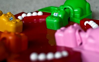 Hungry Hungry Hippos. Coalition talks may look a lot like this. (photo credit: CC BY David Goehring, Flickr)