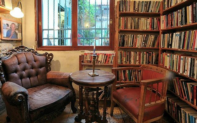 A reading corner at Tmol Shilshom is dedicated to the late poet Yehuda Amichai. His favorite armchair is still there. (Courtesy)