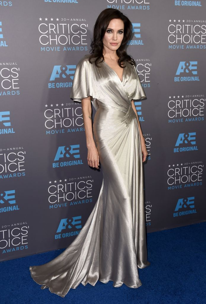 Angelina Jolie arrives at the 20th annual Critics' Choice Movie Awards at the Hollywood Palladium on Thursday, Jan. 15, 2015, in Los Angeles. (Photo credit: Jordan Strauss/Invision/AP)