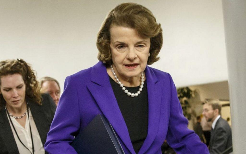 File: Sen. Dianne Feinstein, D-California, on Capitol Hill in Washington. (AP/J. Scott Applewhite)