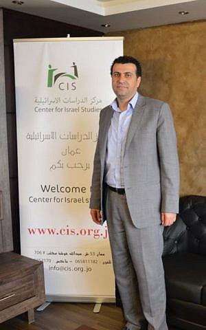 Dr Abdullah Swalha at the Center for Israel Studies, Amman, March 29, 2015 (photo credit: Avi Lewis/Times of Israel, Benyamin Loudmer)