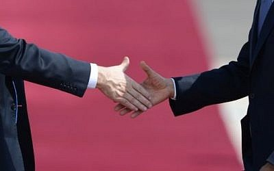 Illustration of a handshake. (photo credit: Kobi Gideon/GPO/FLASH90)