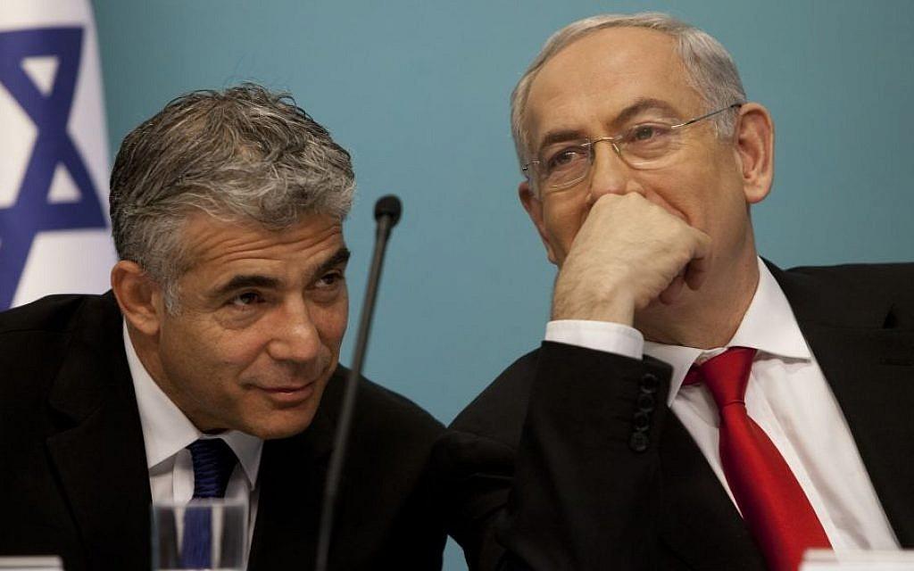 Yair Lapid's English skills mocked by Netanyahu