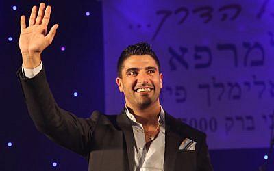 Pop singer Moshe Peretz (Photo credit: Gideon Markowicz/Flash90)