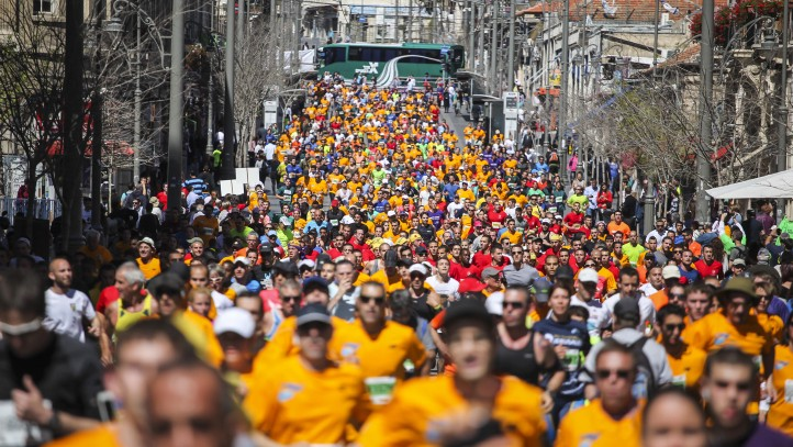 Tens of thousands take part in Jerusalem Marathon  The Times of