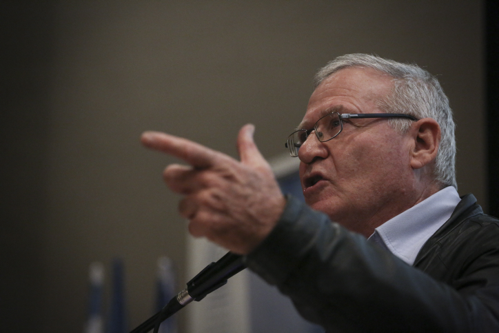 Former military intelligence chief Amos Yadlin in Jerusalem, February 22, 2015. (photo credit: Hadas Parush/Flash90)