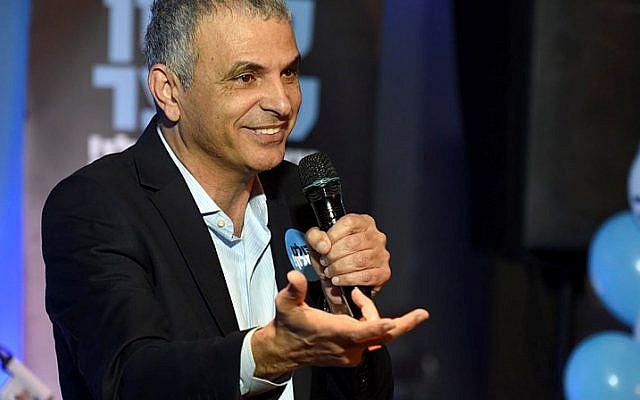 Moshe Kahlon and his Kulanu party were the top choice of Druze voters in Usafiya and Daliyat al-Karmel. (photo credit: Flash90)
