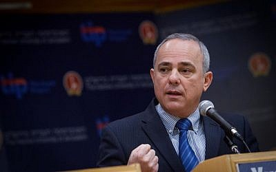 Intelligence Minister Yuval Steinitz attends a political debate at the Hebrew University in Jerusalem, March 03, 2015 (photo by Miriam Alster/FLASH90)