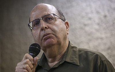 Then-Defense Minister Moshe Yaalon speaks to students at the Hebrew University in Jerusalem, on March 4, 2015. (Photo credit: Hadas Parush/Flash90